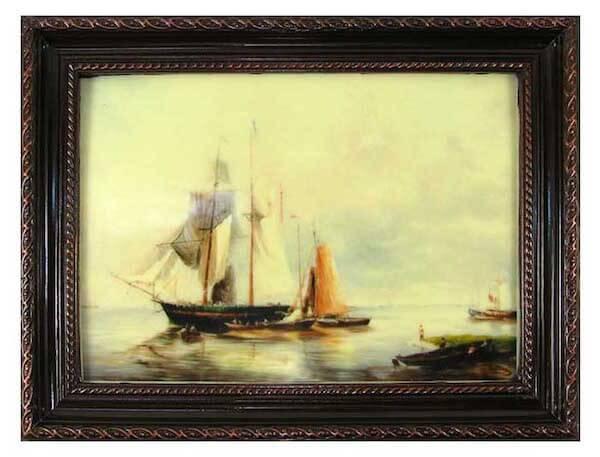 Картина с кораблями