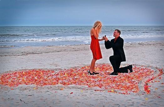 Поздравление на берегу моря