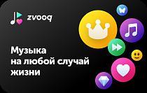 Подарочный сертификат на премиум-возможности в музыкальном сервисе Zvooq
