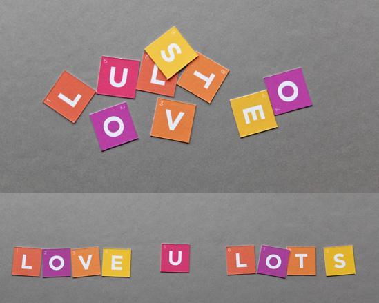 идея оформления подарка на 14 февраля, на день валентина - дарим конверт с буквами, из которых складывается