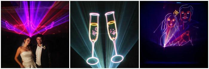 Подарок к свадьбе - лазерное шоу