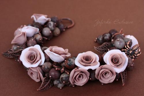 украшения с камнями розового оттенка