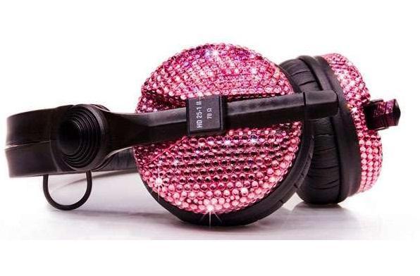 стильные наушники для девушки