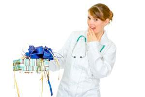Подарок врачу женщине в знак благодарности?