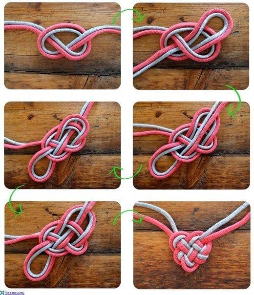 серьги из шнура