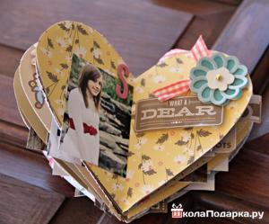 подарок девушке на год отношений-мастер-памятный фотоальбом