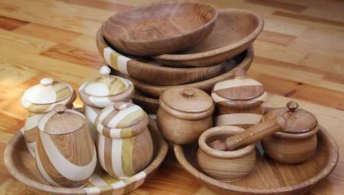 Посуду из натурального дерева