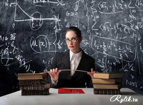 Учитель с указкой