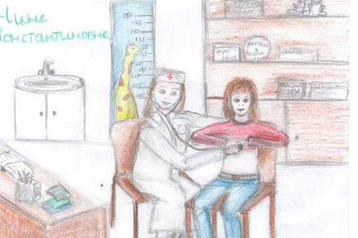 Подарок врачу педиатру - рисунок от ребенка