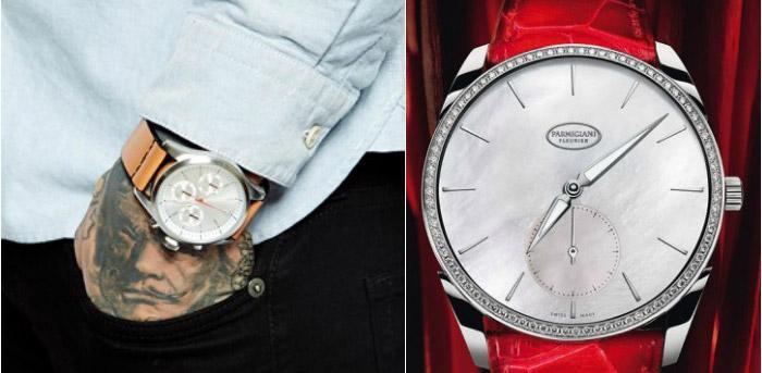 Часы с перламутровым циферблатом к годовщине свадьбы