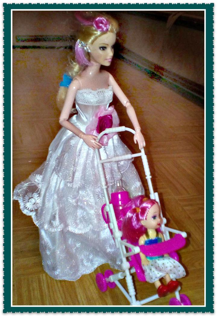 подарок девочке на день рождения кукла Барби с ребенком