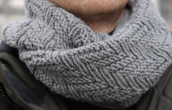 Мужской шарф своими рукам