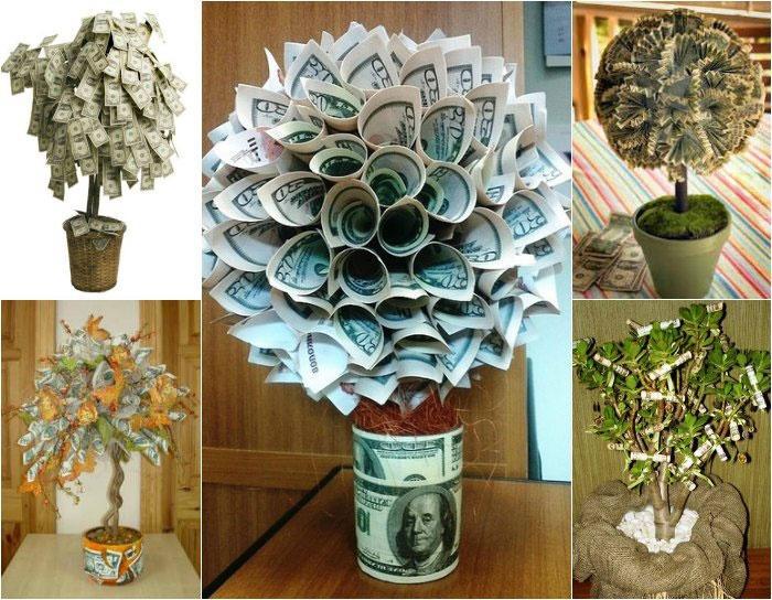 Денежное дерево – свадебный подарок с намеком