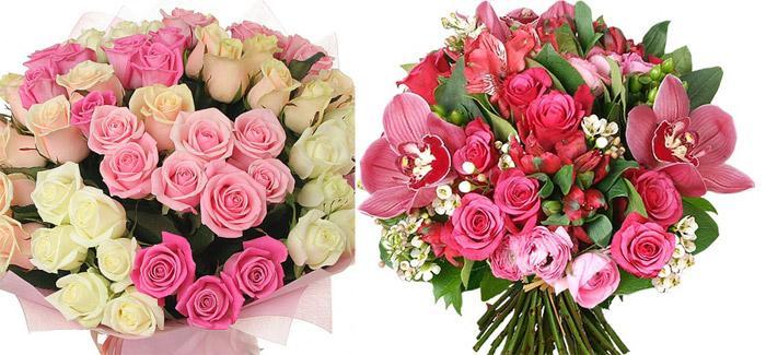Букет с белой розой на оловянную свадьбу