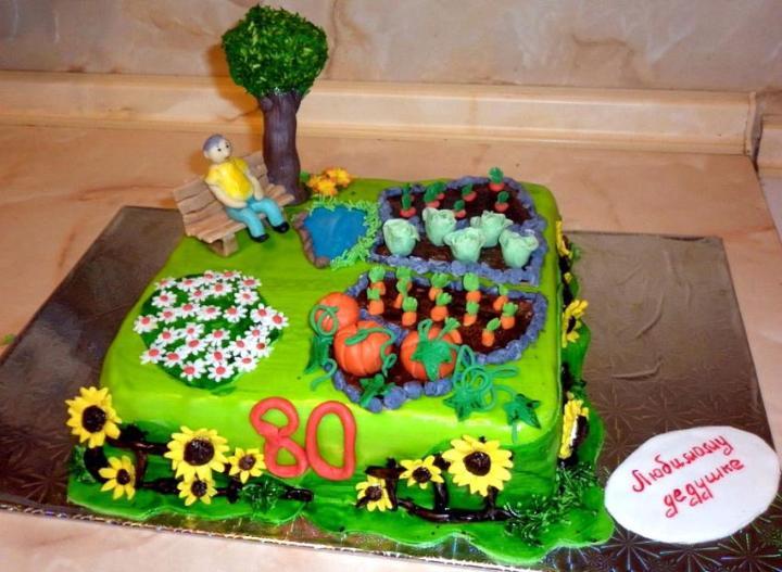 Торт любимому дедушке - что подарить на День рождения - подарки своими руками.