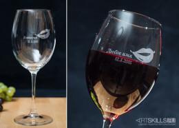 Винный бокал с гравировкой