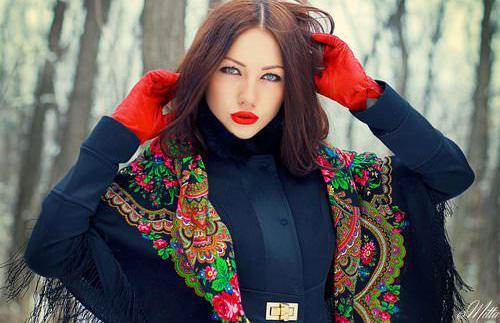 Женский платок француженкам