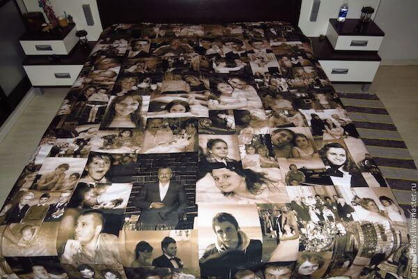 одеяло из совместных фотографий