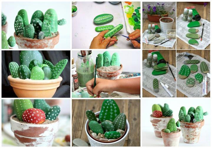Подарок маме своими руками - кактус