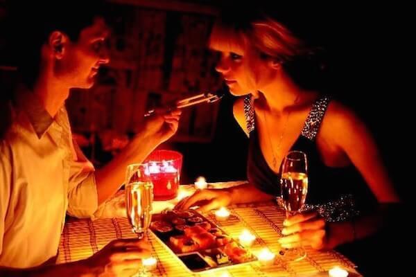 Романтический ужин с суши