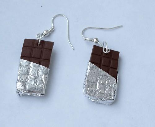 Сережки шоколадки