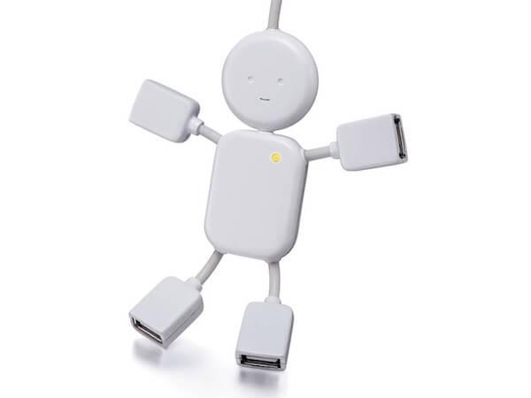 USB-разветвитель в виде забавного человечка