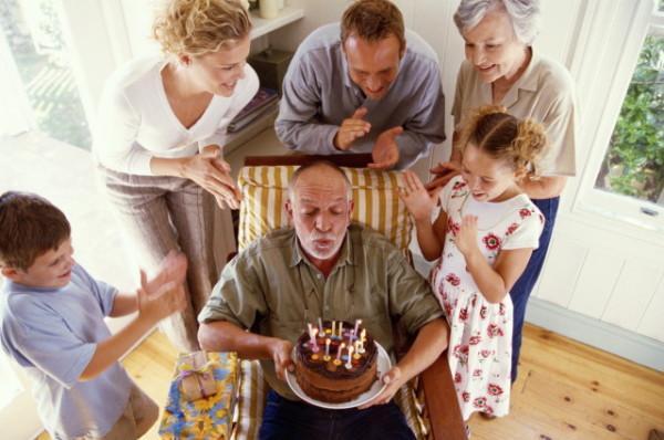 День рождение у деда