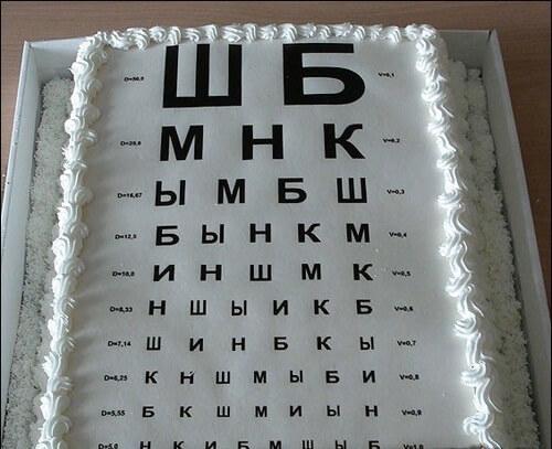 торт окулисту