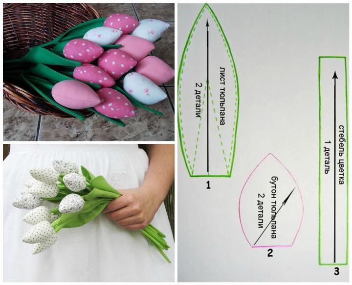 Подарок маме - тюльпаны поделка своими руками