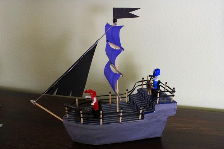 Кораблик своими руками делает ребенок для папы