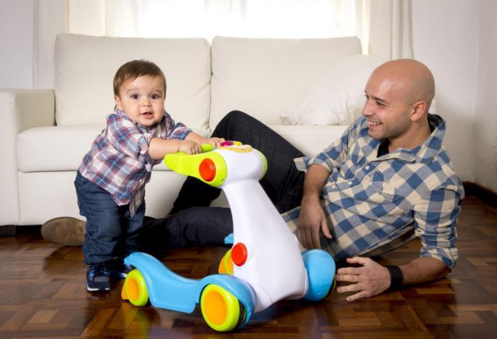 ребенок с папой