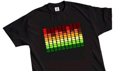 футболка с эквалайзером