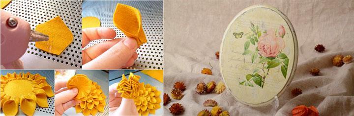 Собирать руками изделия из ткани и декупаж