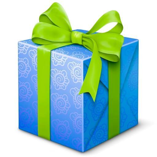 Синий подарок
