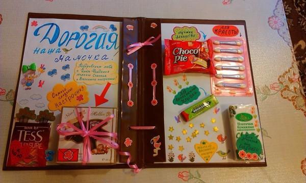 Открытка со сладостями