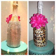 праздничная бутылка шампанского